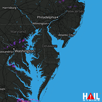 Hail Map Virginia Beach, VA 05-31-2017
