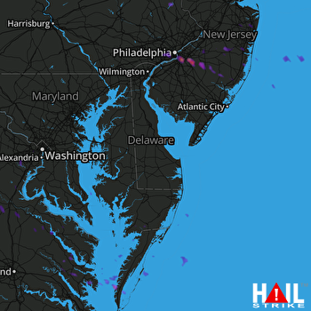 Hail Map DOVER AFB 07-22-2017