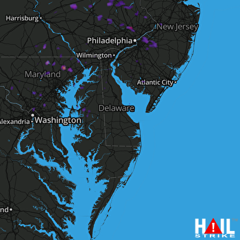 Hail Map Bel Air, MD 07-24-2017