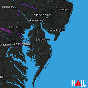 Hail Map Frederick, MD 08-12-2017