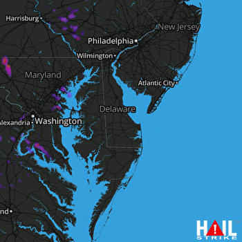 Hail Map Glen Burnie, MD 08-21-2017