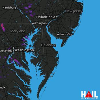 Hail Map Glen Burnie, MD 08-21-2017