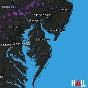 Hail Map Lancaster, PA 09-05-2017