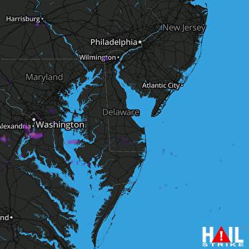 Hail Map Alexandria, VA 05-14-2018