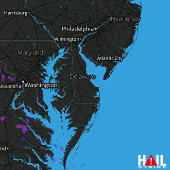 Hail Map Herndon, VA 05-14-2018