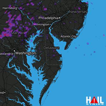 Hail Map Fairfax, VA 05-15-2018