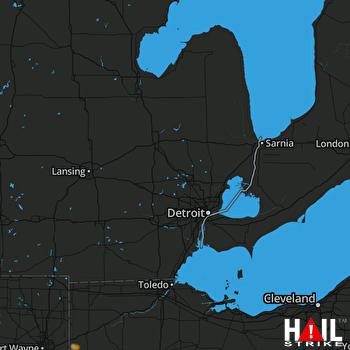 Hail Map Payne, OH 12-15-2018