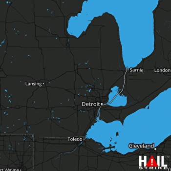 Hail Map Lincoln, MI 06-13-2018