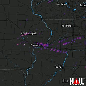 Hail Map Cedar Rapids, IA 04-22-2019