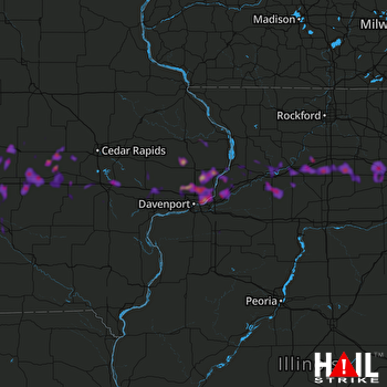 Hail Map Iowa City, IA 05-17-2019