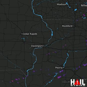 Hail Map Pekin, IL 05-23-2019