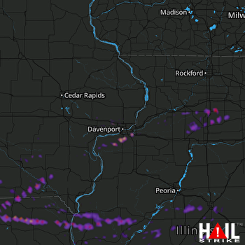Hail Map Moline, IL 05-26-2019