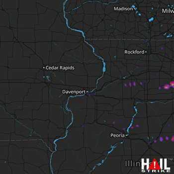 Hail Map Plainfield, IL 05-27-2019