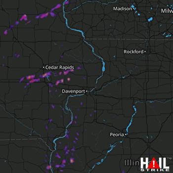 Hail Map Pittsfield, IL 05-30-2019