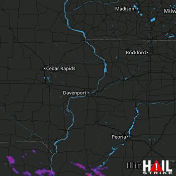 Hail Map Springfield, IL 06-05-2019