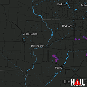 Hail Map Aurora, IL 06-27-2019