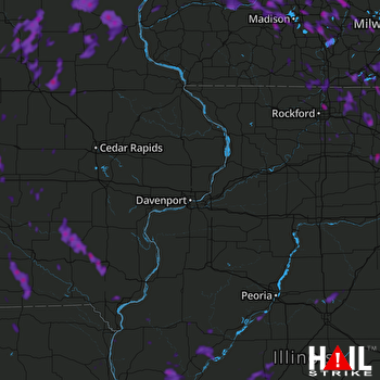 Hail Map Watertown, WI 06-28-2019