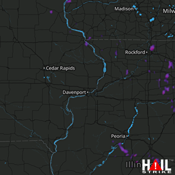 Hail Map Batavia, IL 07-14-2019