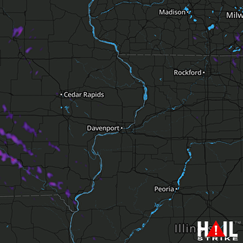 Hail Map Knoxville, IA 07-17-2019