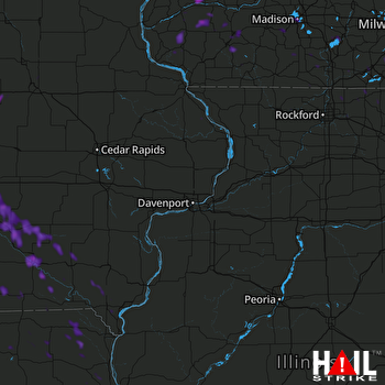 Hail Map Crystal Lake, IL 07-20-2019