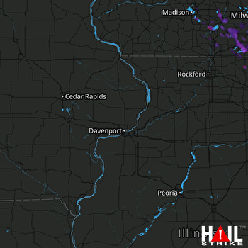 Hail Map Mchenry, IL 08-08-2019