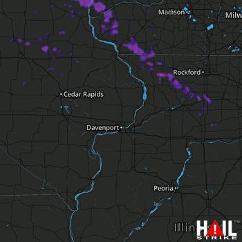 Hail Map Freeport, IL 09-03-2019