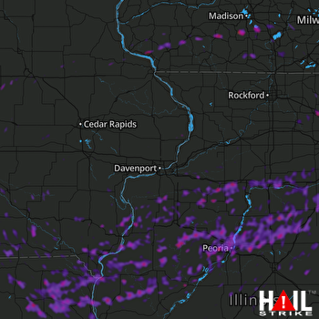 Hail Map Peoria, IL 09-27-2019