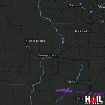 Hail Map Heyworth, IL 09-29-2019