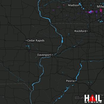 Hail Map Edgerton, WI 10-01-2019