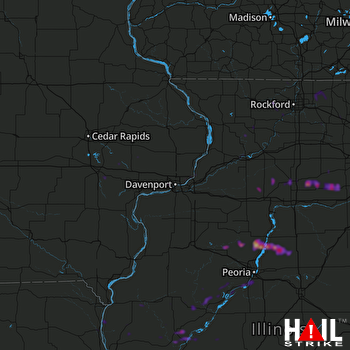 Hail Map Chillicothe, IL 04-28-2020