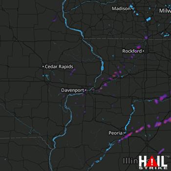 Hail Map Joliet, IL 05-23-2020
