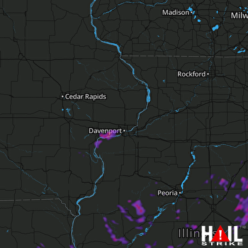 Hail Map Quincy, IL 06-04-2020