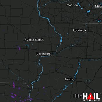 Hail Map Williamsburg, IA 06-19-2020