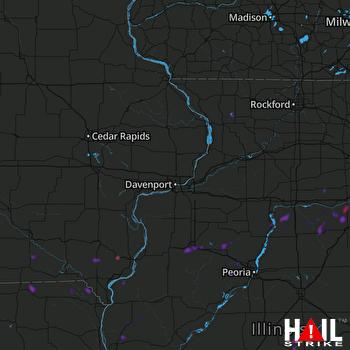 Hail Map Galesburg, IL 06-22-2020