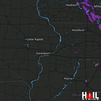 Hail Map Madison, WI 08-25-2020