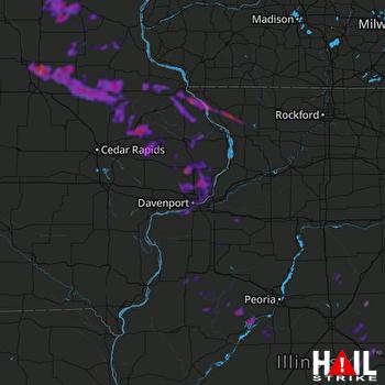 Hail Map Dubuque, IA 09-06-2020