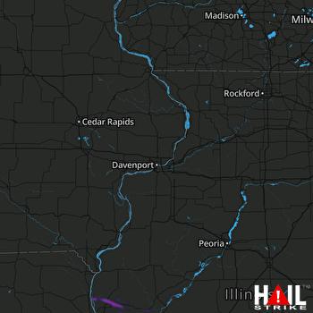 Hail Map Jacksonville, IL 06-19-2021