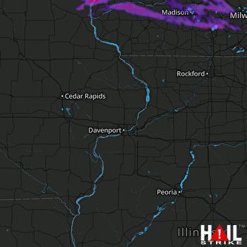 Hail Map Sun Prairie, WI 08-08-2021