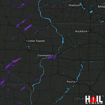Hail Map Knoxville, IA 09-21-2021