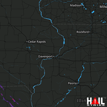 Hail Map Edina, MO 10-01-2021