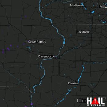 Hail Map La Grange, MO 03-07-2017