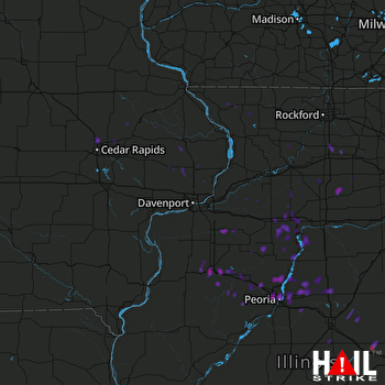 Hail Map Peoria, IL 03-20-2017