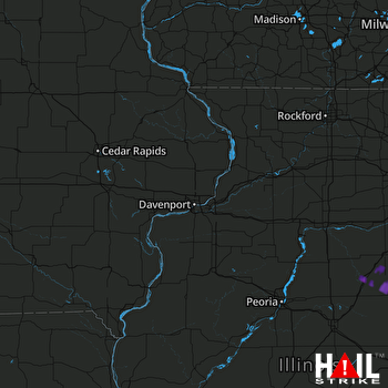 Hail Map Pontiac, IL 03-20-2017