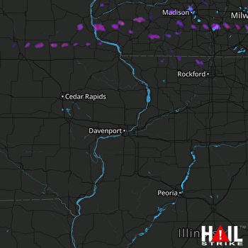 Hail Map Madison, WI 03-23-2017