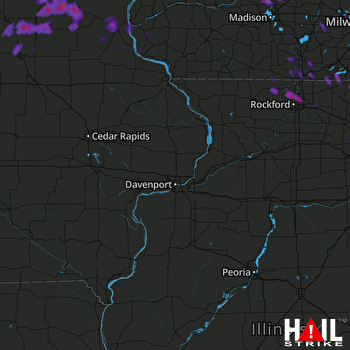 Hail Map Rockford, IL 05-15-2017