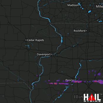 Hail Map Peoria, IL 05-26-2017