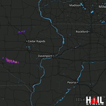 Hail Map Sigourney, IA 05-27-2017