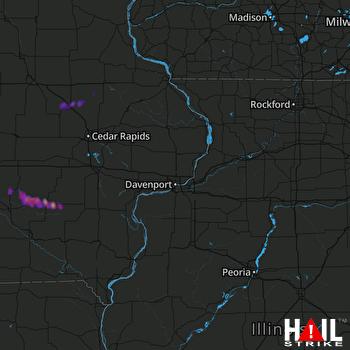 Hail Map Sigourney, IA 05-27-2017
