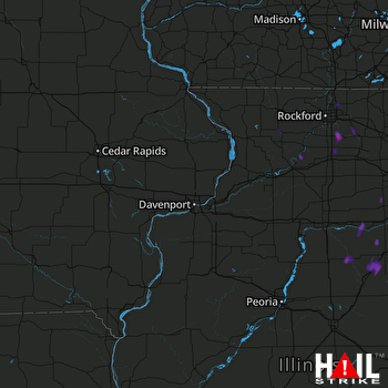 Hail Map Plainfield, IL 06-13-2017