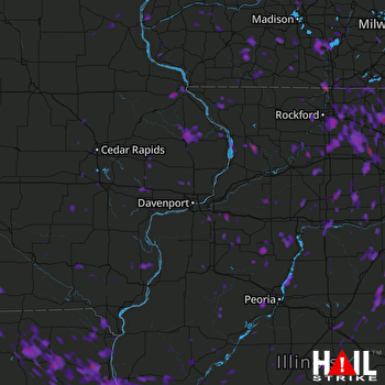 Hail Map Rockford, IL 06-14-2017